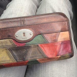 Fossil Maddox Leather Patchwork Wallet